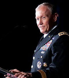 Chief of Staff of the Army, Gen. Martin E. Dempsey gives remarks during a ceremony honoring the Military Times 2011 Soldier of the Year. (Photo: The U.S. Army)