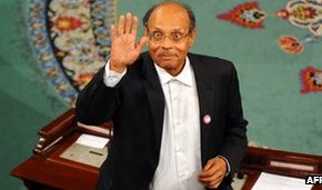 """Photo: Tunisia's new """"president,"""" Moncef Marzouki, a veteran Western collaborator whose last two decades of political activity have been supported and subsidized by the US government and US corporate-financier funded foundations"""